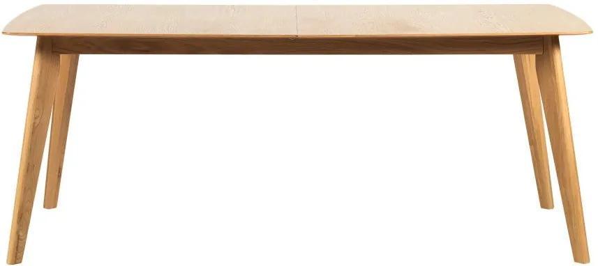 Masă extensibilă din lemn de stejar Rowico Frey, lungime 190 cm