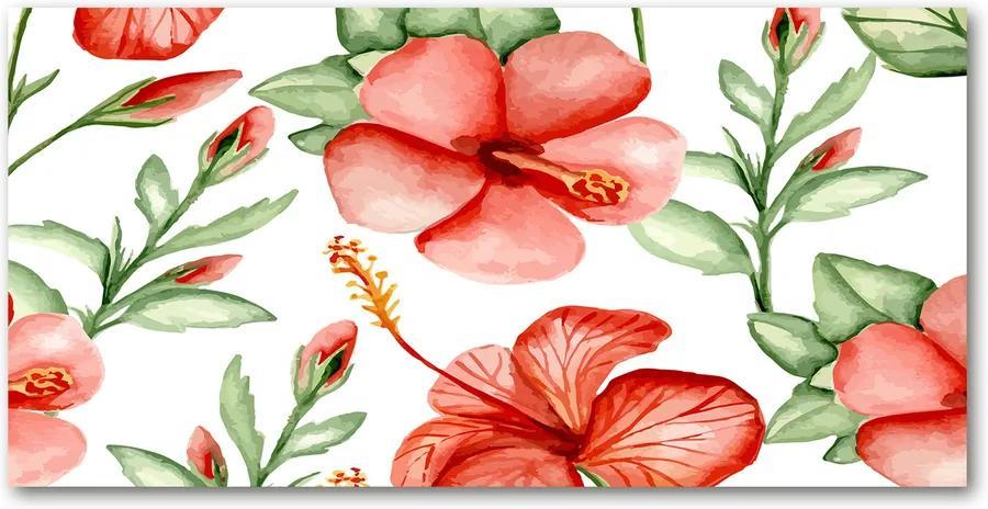 Tablou sticlă Flori tropicale