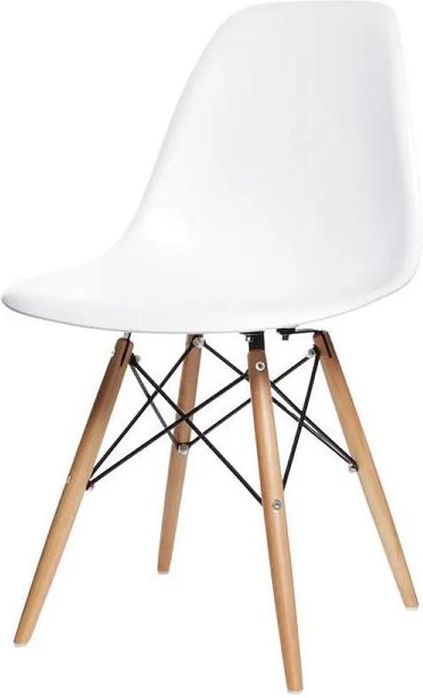 Scaun Modern pentru Bucatarie, Living, Sufragerie sau Exterior, Model PC-005, Culoare Alb