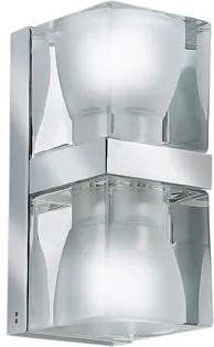 Cubetto D02 - Aplică cu 2 surse de lumină din cristal