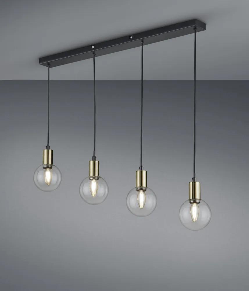 Trio 300800432 Lampi de sufragerie NACHO negru mat metal excl. 4 x E14, max. 28W IP20