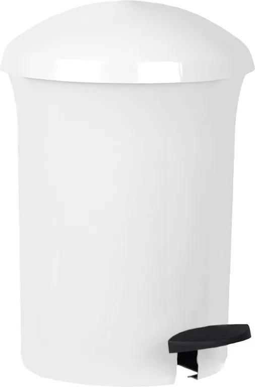 Coș de gunoi Aldotrade Dust Bin, cu pedală, 8,1 l, alb