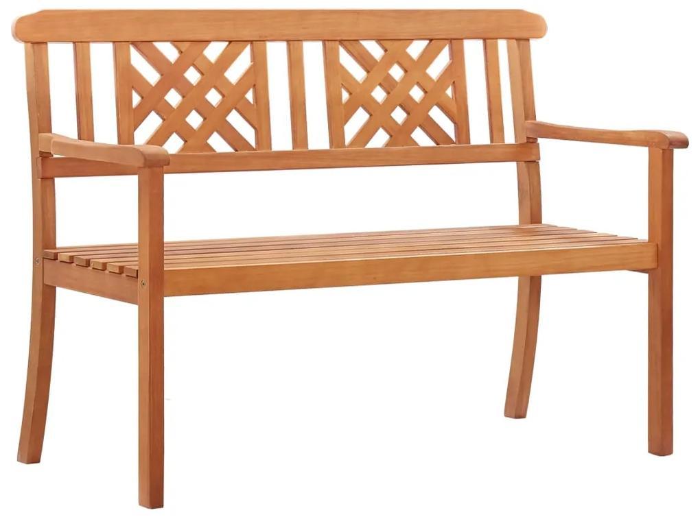 47287 vidaXL Bancă de grădină cu 2 locuri, 120 cm, lemn masiv de eucalipt