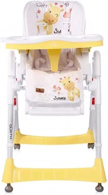 Lorelli - Scaun de masa Gusto, reglabil, Yellow Giraffe