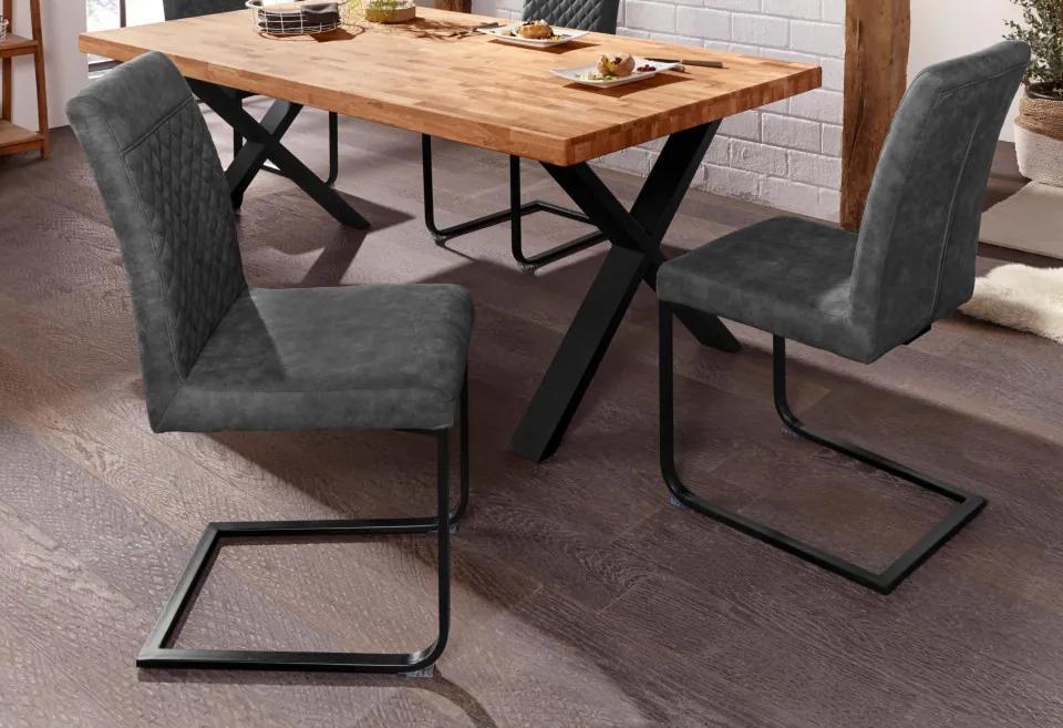Set de 2 scaune Willy antracit, 45 x 60 x 97cm