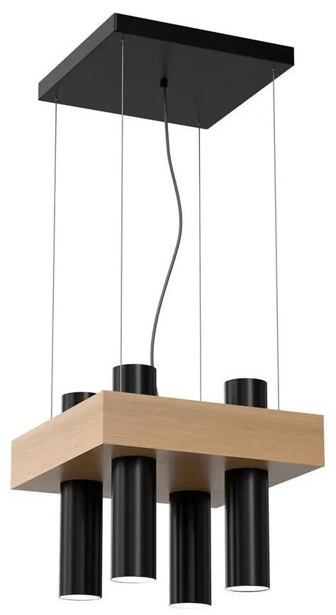 Lustră pe cablu WEST 4xGU10/25W/230V neagră