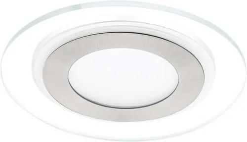 Spot incastrabil fix cu LED integrat Pineda 12W 1000 lumeni, 3000K, Ø145 mm, nichel satinat