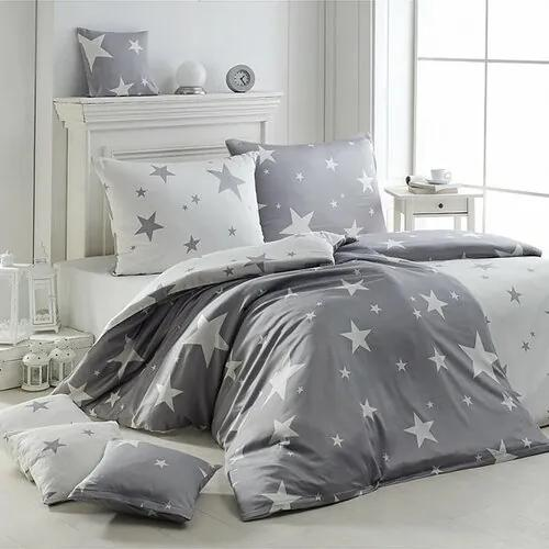 Lenjerie de pat Matějovský New Star Grey, din crep 140 x 200 cm, 70 x 90 cm, 140 x 200 cm, 70 x 90 cm