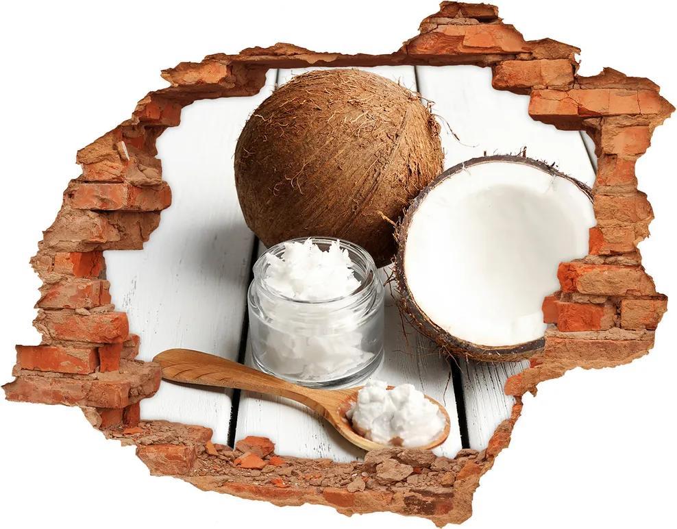 Samolepiaca nálepka betón Kokosový olej