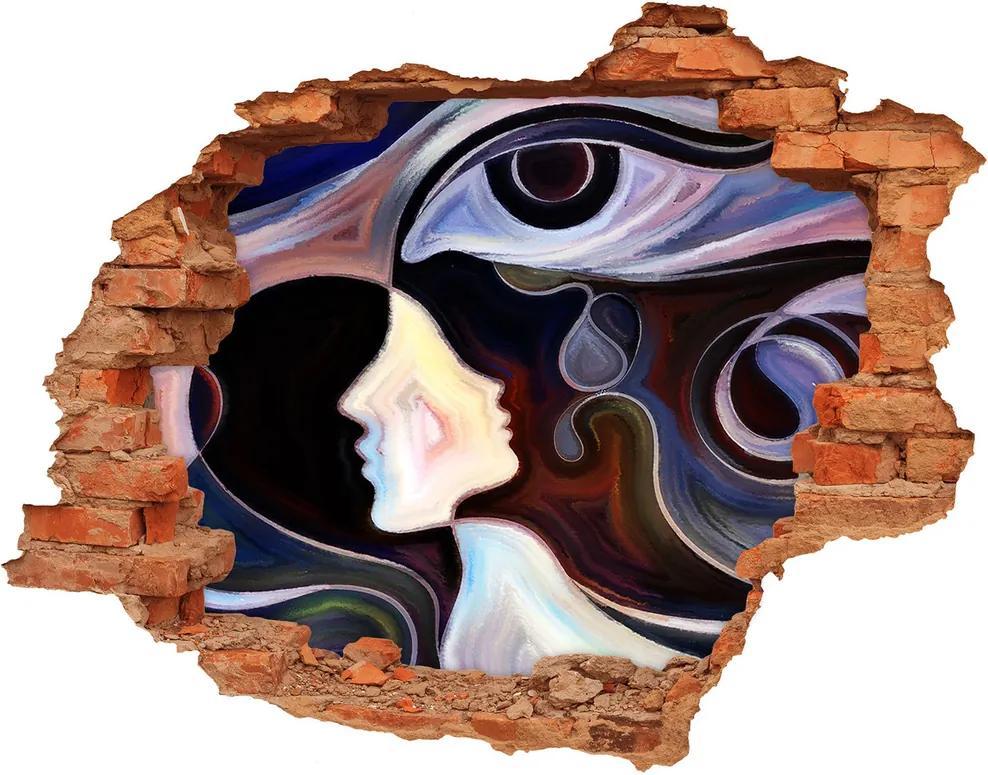Fototapet un zid spart cu priveliște Abstracțiune
