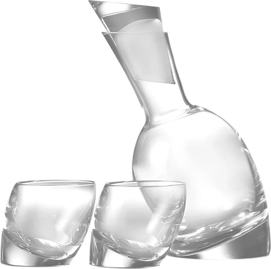"""Carafă pentru vin """"Tilt"""" cu 2 pahare - Nambé"""
