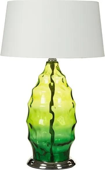 Veioza verde/alba din sticla si poliester 60 cm Warren Green Santiago Pons