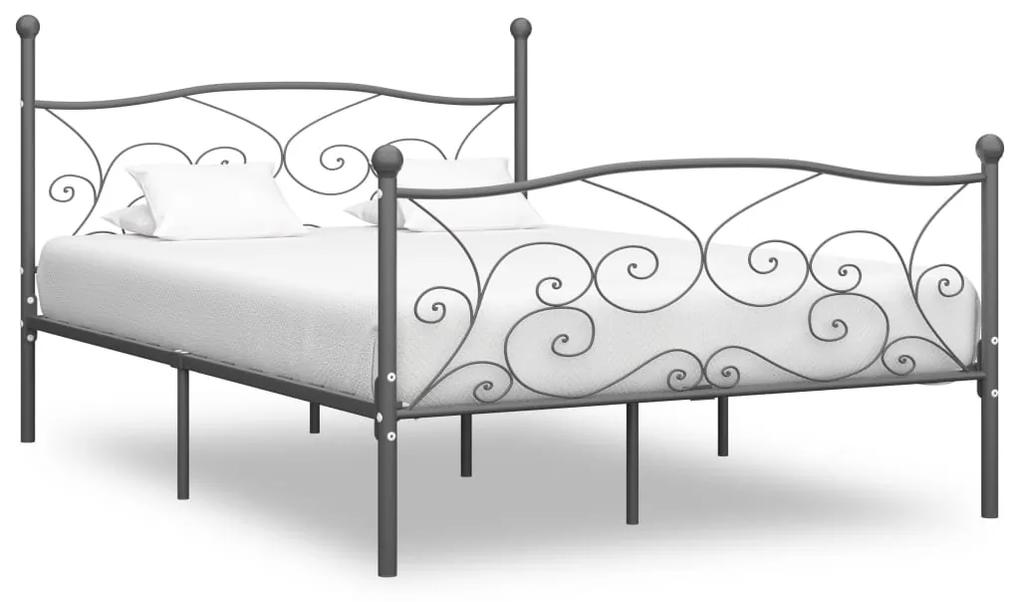 284467 vidaXL Cadru de pat, gri, 200 x 200 cm, metal