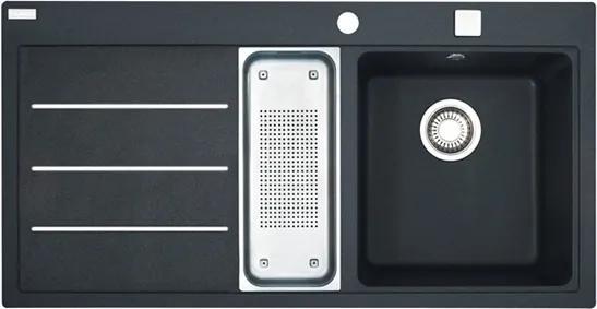Chiuveta fragranite Franke Mythos Fusion MTF 651-100, 1000x515mm, picurator stanga, negru