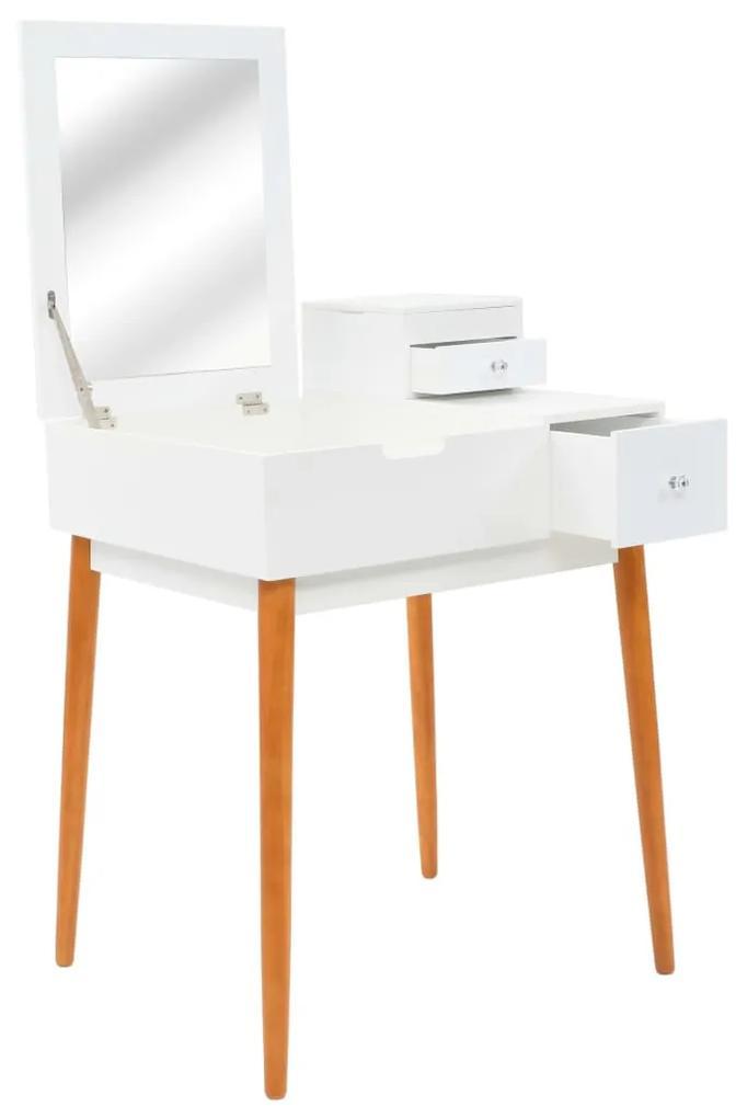 245752 vidaXL Masă de toaletă cu oglindă, MDF, 60x50x86 cm