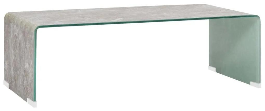 284734 vidaXL Măsuță de cafea, marmură maro, 98x45x31 cm, sticlă securizată