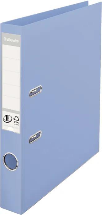 Biblioraft plastifiat ESSELTE 5cm albastru deschis standard