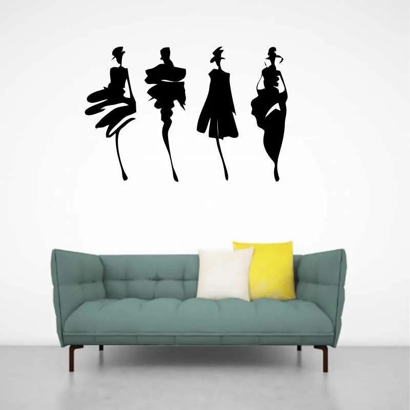 Sticker decorativ Siluete Femei