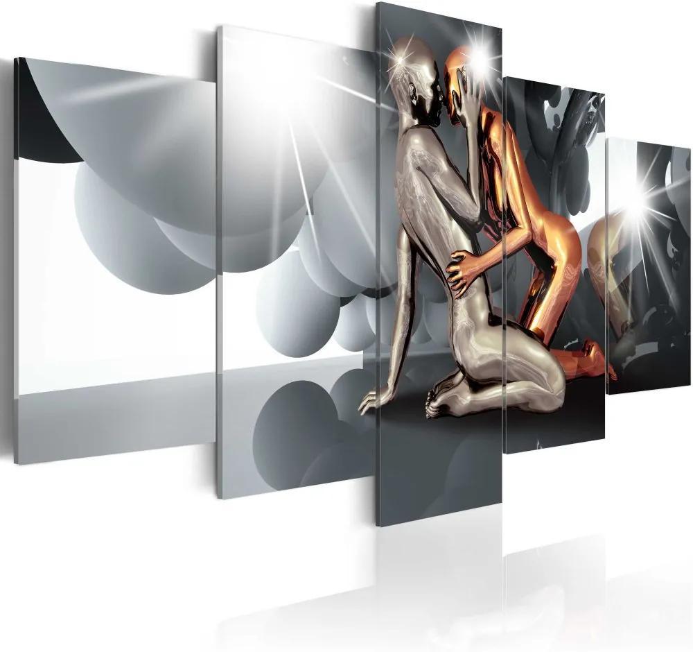 Tablou Bimago - Lovers of the Future 100x50 cm