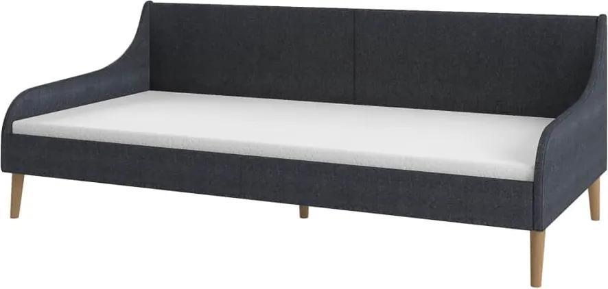 Cadru pat de zi canapea, gri inchis, material textil