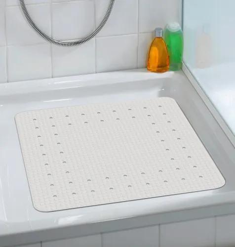 Covoras pentru baie antiderapant, din TPR, Mirasol Alb, 54 x 54 cm