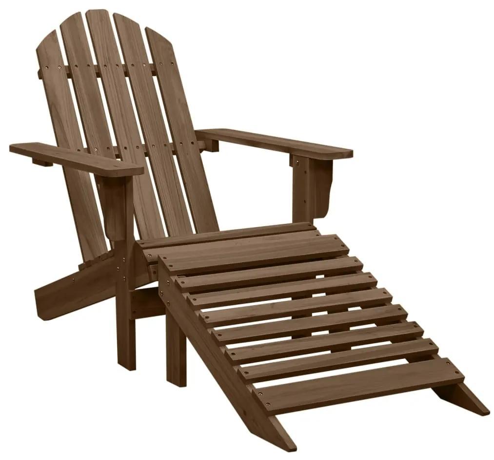 45701 vidaXL Scaun de grădină cu taburet, maro, lemn