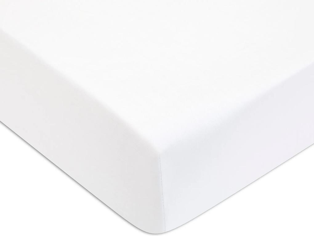 Cearceaf de pat cu elastic Descamps Sublime 180x200cm, Alb