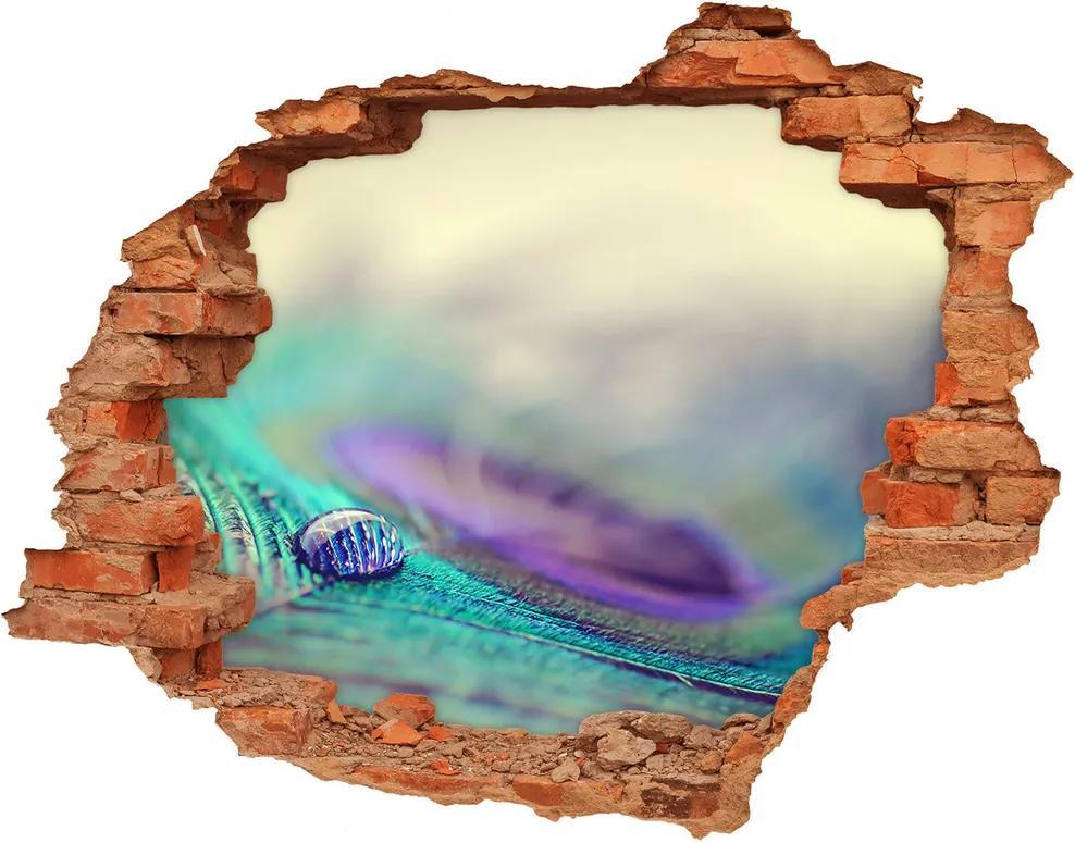 Autocolant gaură 3D Arunca piórku