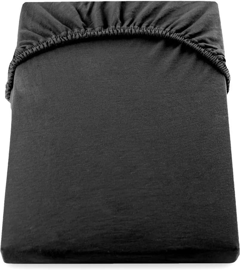 Cearșaf de pat DecoKing Amber Collection, 80-90 x 200 cm, negru