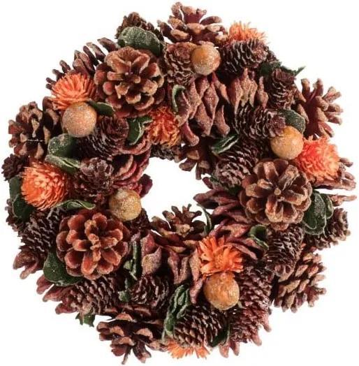 Coroniță cu conuri pentru Crăciun J-Line Pine
