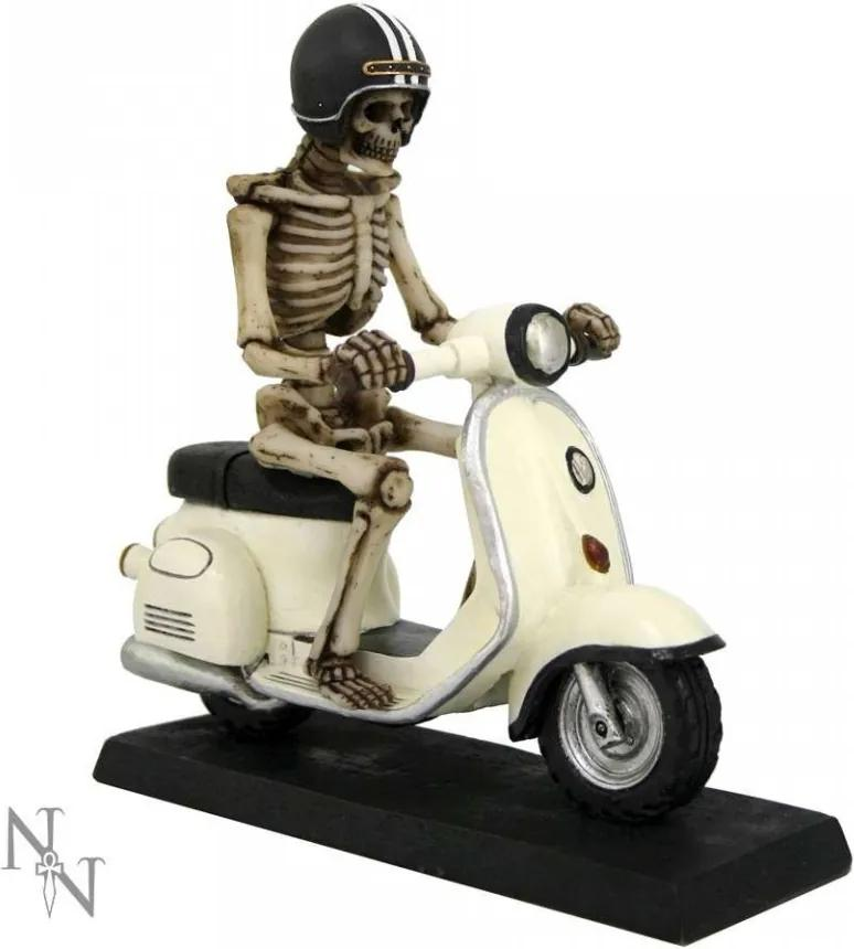 Statueta Schelet pe scuter 20 cm
