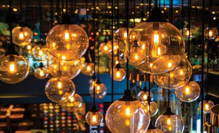 Light Bulbs Vintage Retro Fototapet, (368 x 254 cm)