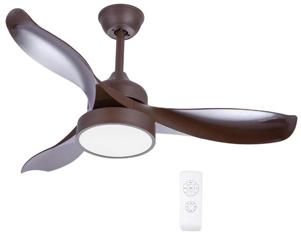 Globo 03610 - LED Ventilator de tavan RAMONA 1xLED/18W/230V + control