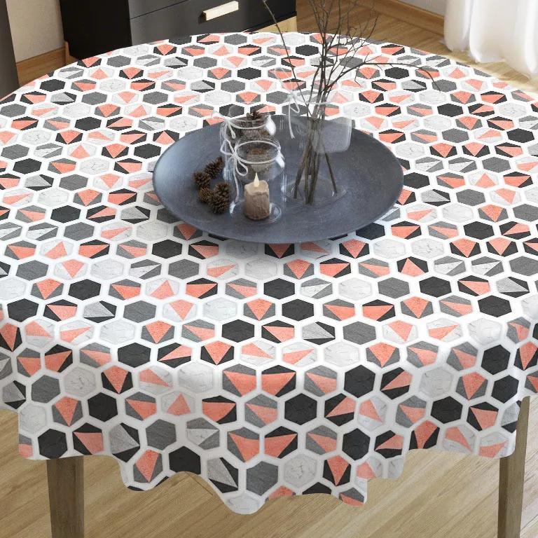 Goldea față de masă decorativă loneta - model 386 - rotundă Ø 60 cm
