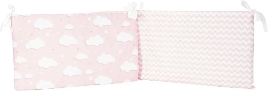 Protecție din bumbac pentru patul copiilor Mike & Co. NEW YORK Carino, 40 x 210 cm, roz