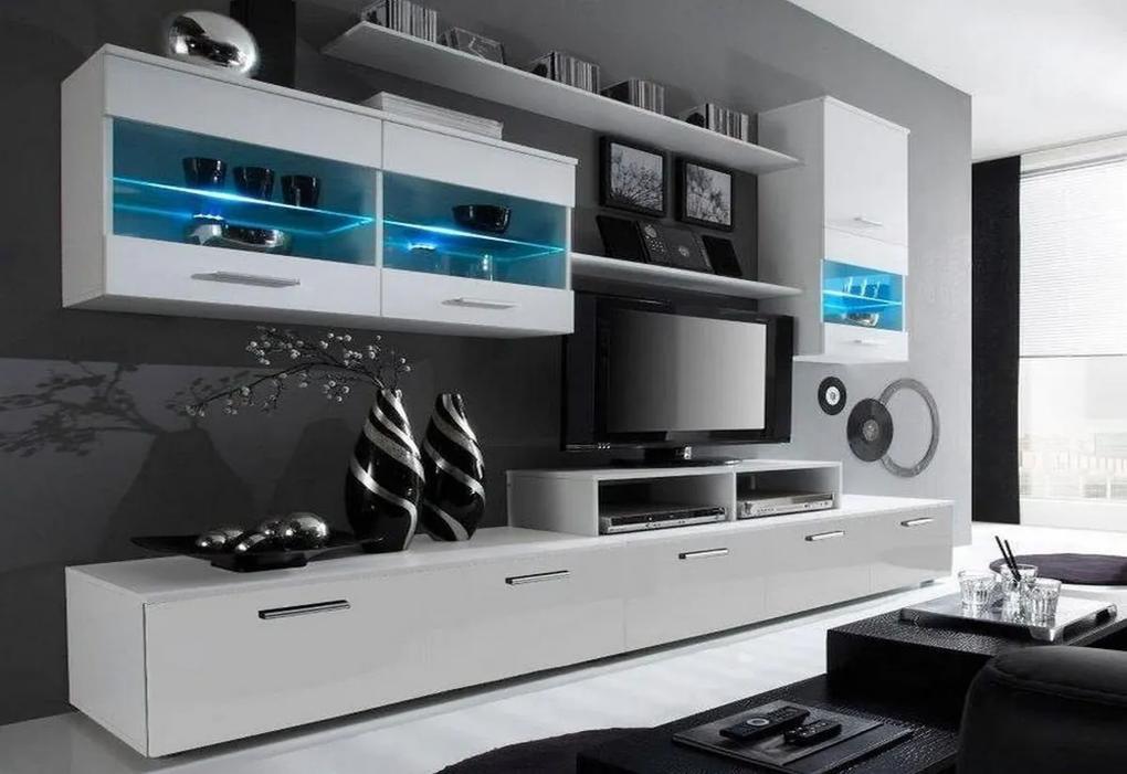 Expedo Mobilă sufragerie RUFUS I, alb/alb luciu