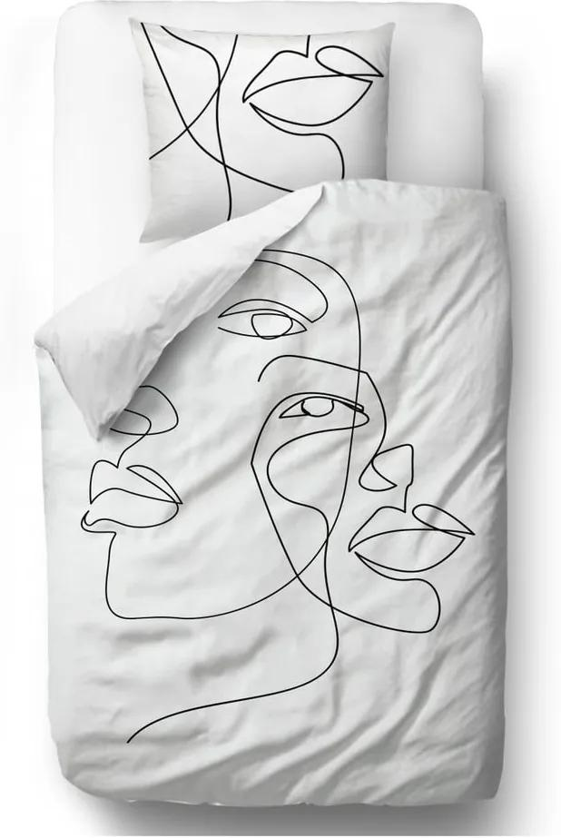 Lenjerie de pat din bumbac satinat Butter Kings Infinity, 135 x 200 cm