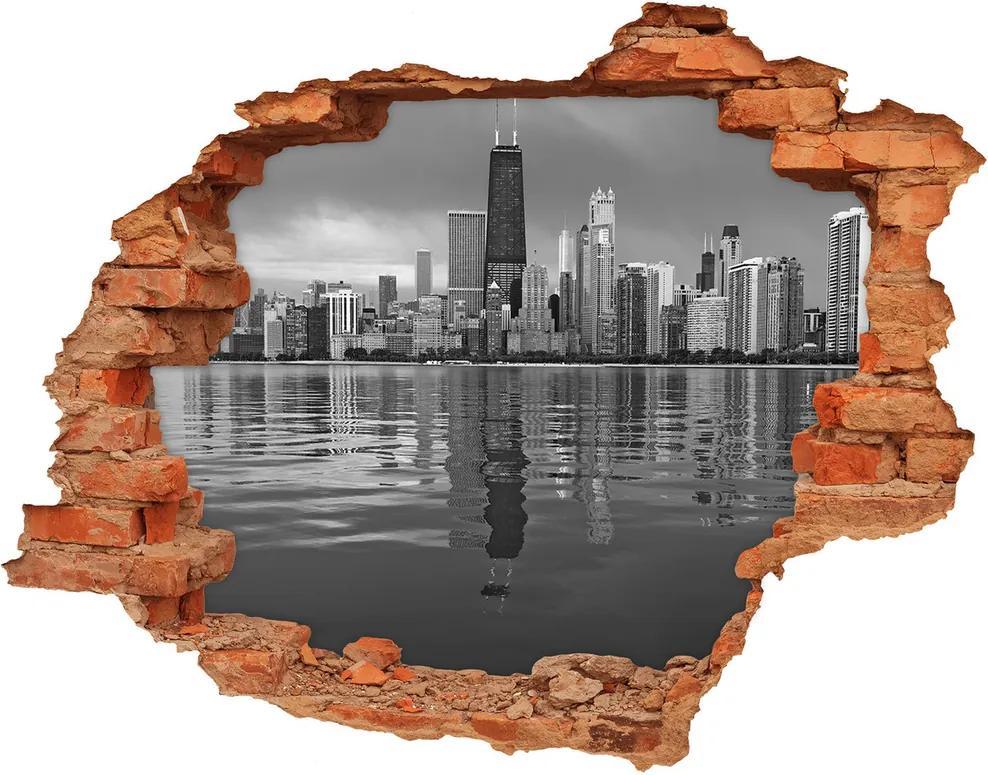 Fototapet 3D gaură în perete Chicago