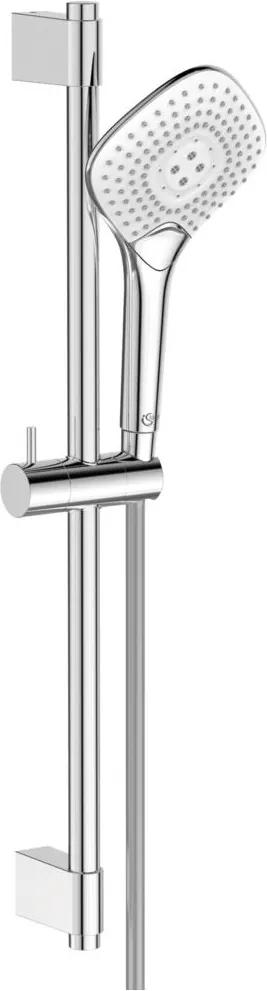 Set de dus Ideal Standard IdealRain EvoJET Diamond cu para 134mm, furtun 1750mm si bara 600mm