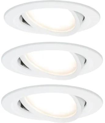 Spoturi incastrabile mobile Nova 6,5W Ø84 mm, module becuri LED Coin incluse, alb mat, 3 bucati