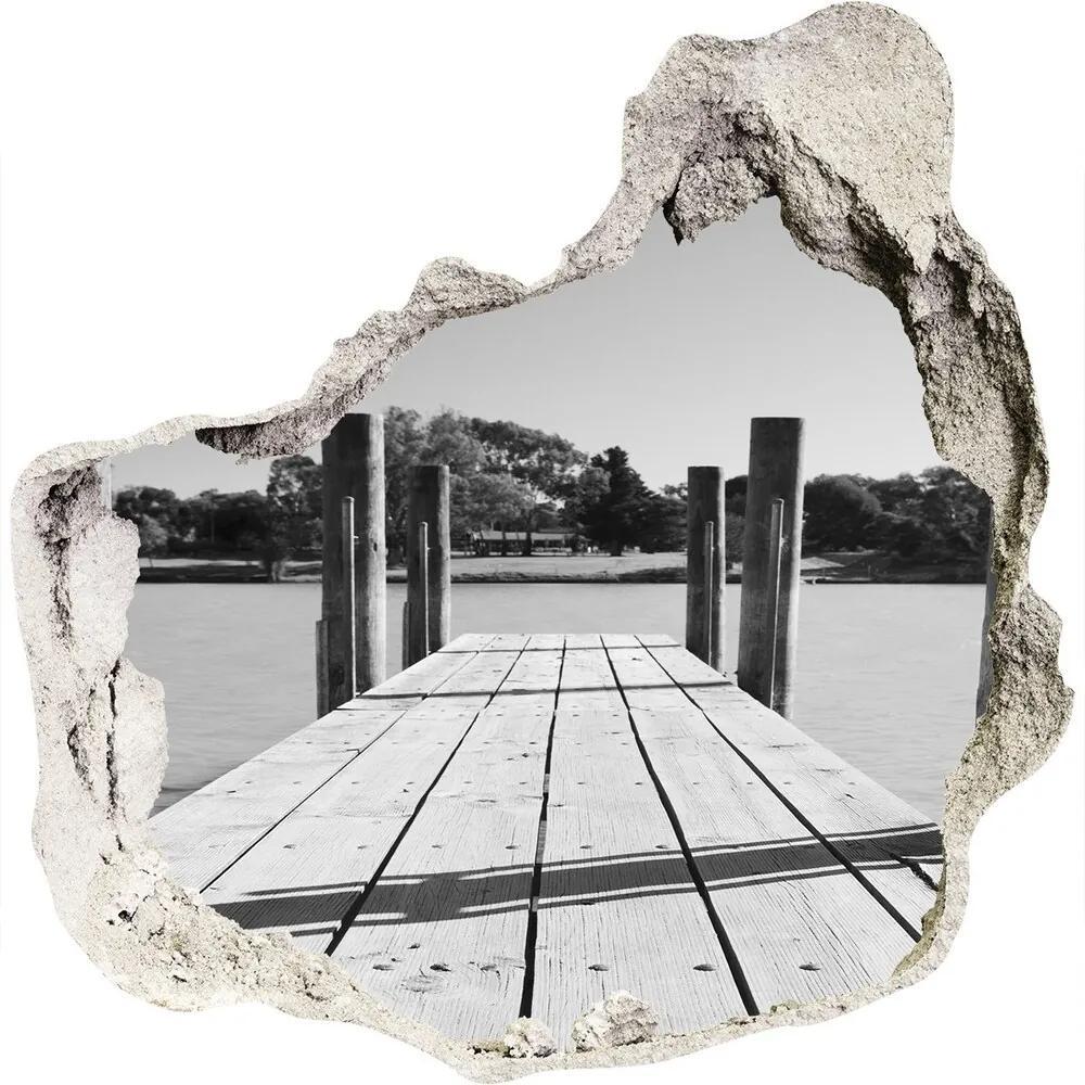 Autocolant autoadeziv gaură Debarcader din lemn