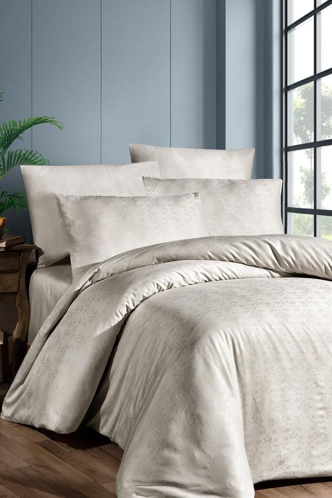 Lenjerie de pat de lux Amore din jacquard bej 140x200 cm
