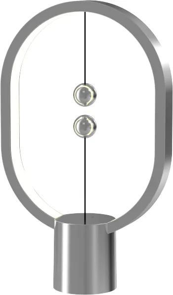 Veioză Heng Balance Mini Aluminium - Argintiu, cablu USB-C