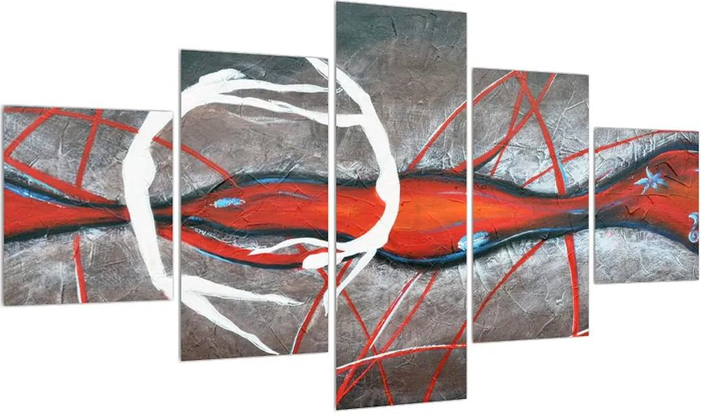 Tablou abstract - pictura cu dansatori (K013889K12570)