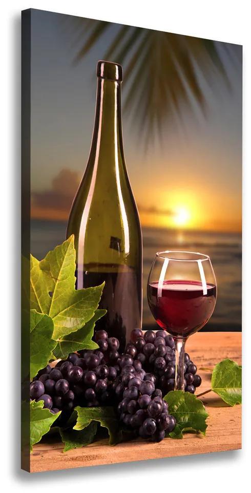 Print pe pânză Struguri și vin