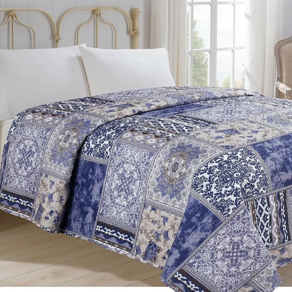 Cuvertură de pat Orient, albastru, 140 x 220 cm