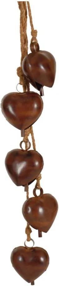 Ghirlandă cu 5 clopoței în formă de inimă Antic Line