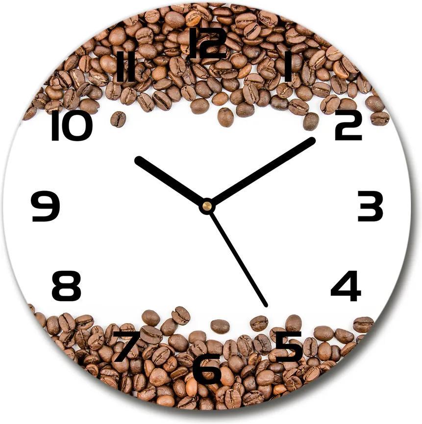 Ceas din sticlă rotund Boabe de cafea