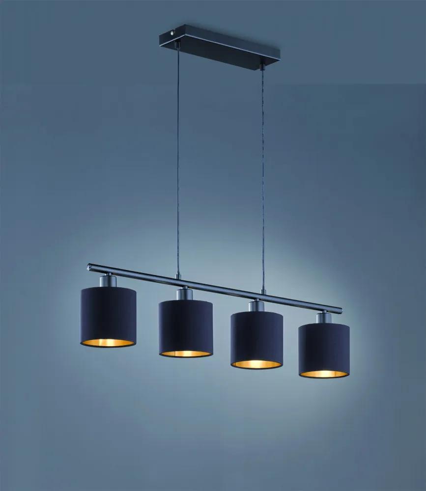 Trio TOMMY R30334079 Lampi de sufragerie negru mat excl. 4 x E14, max. 28W ↔ 76cm/ ↕ 150cm/ Ø 12cm