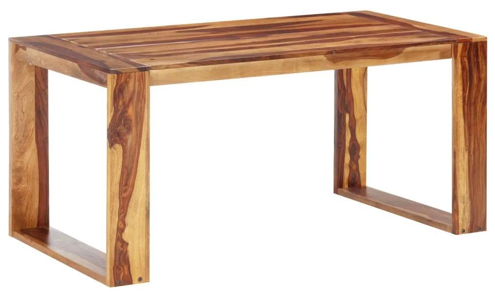 286353 vidaXL Masă de bucătărie, 160 x 80 x 76 cm, lemn masiv de sheesham